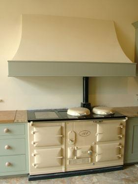 A fully restored four oven Aga with white enamel